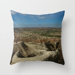 Amazing Badlands Overview Throw Pillow