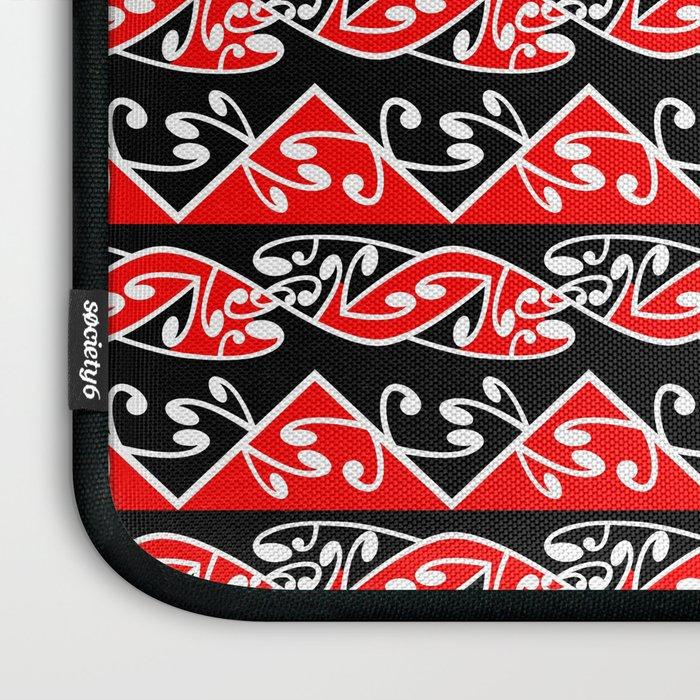 Kowhaiwhai Traditional Maori Koru Pattern Laptop Sleeve