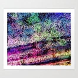 Fusion Of Pastel Art Print