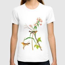 Blackburnian Warbler James Audubon Vintage Scientific Illustration American Birds T-shirt
