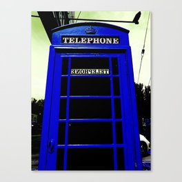 Telephone Booth (blue) Canvas Print