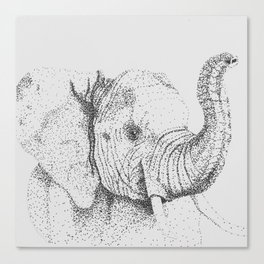 Dotted Elephant Canvas Print
