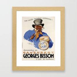 placard demandez un camembert georges bisson. 1937 Framed Art Print