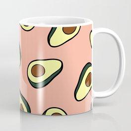 Avocado Pattern in Pink Coffee Mug