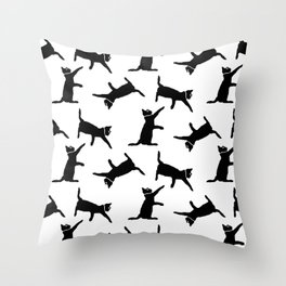 Cats on White Throw Pillow
