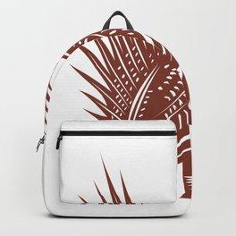 Sage Grouse Bird Woodcut Backpack