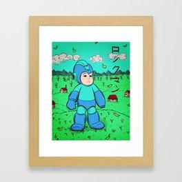 Mega Man Framed Art Print