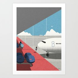 Departure lounge Art Print