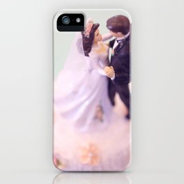 Bride and Groom - bridal shower gift or wedding gift iPhone Case