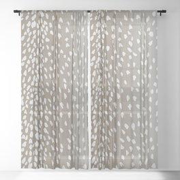 Antelope Fawn Print Sheer Curtain