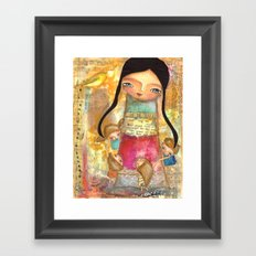 Music - teacher and children Framed Art Print
