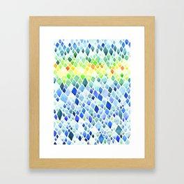 Watercolor Diamond Abstract Pattern Framed Art Print