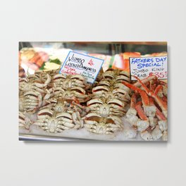 Pike Place Market Seafood Metal Print