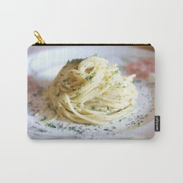 Spaghetti with parsley, ginger and garlic. Carry-All Pouch