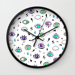 Eyes eyes baby - Color Wall Clock