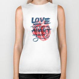 Love will tear us apart. Biker Tank