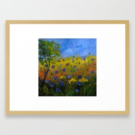 Blue cornflowers 77 Framed Art Print
