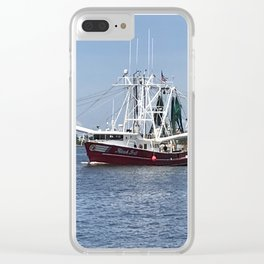 Shrimp Boat Trawler NC Clear iPhone Case