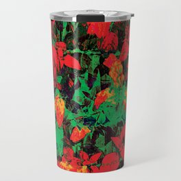 Flora Celeste Ruby Floral  Travel Mug