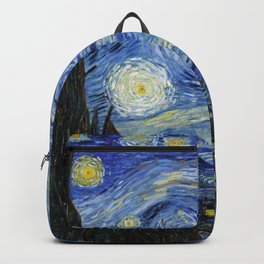 Starry Night by Vincent Van Gogh Backpack