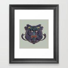 A Green Man that's Purple Framed Art Print