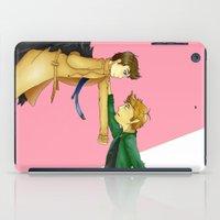 destiel iPad Cases featuring Destiel by doodle bags