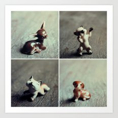 Tiny Menagerie Art Print