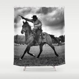 Cowboy Ghostrider  Shower Curtain