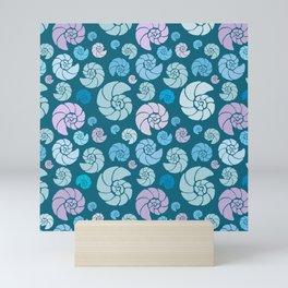 Sea shells pattern pastels #2 Mini Art Print