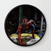 comic Wall Clocks featuring comic by Fila Venom Art