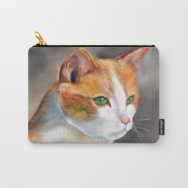 Young ginger and white cat (a343) Carry-All Pouch