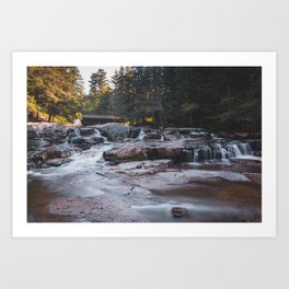 Jackson Falls - New Hampshire, USA Art Print