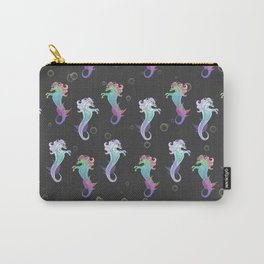 Neon Sea Horse Carry-All Pouch