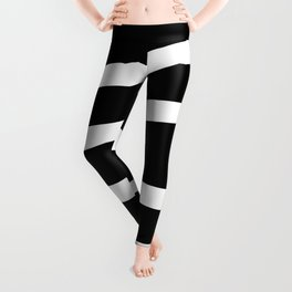 Abstract black & white Lines Stripes Pattern - Mix and Match with Simplicity of Life Leggings