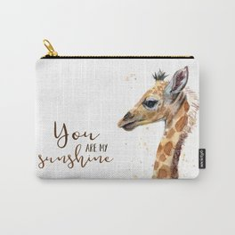 You Are My Sunshine Giraffe Nursery Animals Watercolor Art Carry-All Pouch