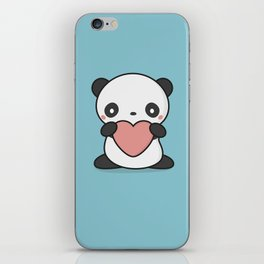 Kawaii Cute Panda With Heart iPhone Skin