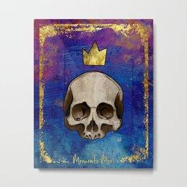 Memento Mori (rust, purple, and blue) Metal Print