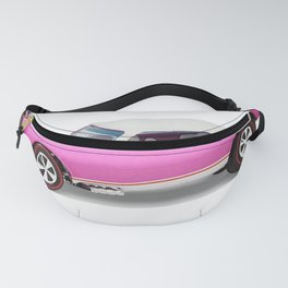 Hot Wheels Pink Party 427 SS Pony Car 67 Redline with white hardtop hood open Fanny Pack