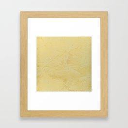 Tuscan Sun Stucco - Faux Finishes - Yellow Venetian Plaster Framed Art Print