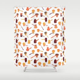 The long handle cezve coffee Shower Curtain