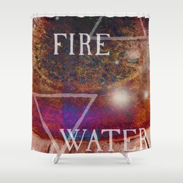 Fire Meets Water Shower Curtain