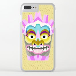 Aloha Tiki Mask Clear iPhone Case
