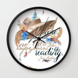 Jane Austen - No Enjoyment Like Reading Wall Clock