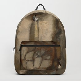 Still Life Impressionist Oil painting of Dream Catcher Backpack