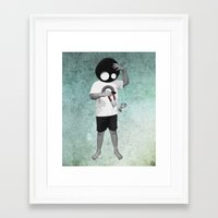 law Framed Art Prints featuring LAW by Seamless