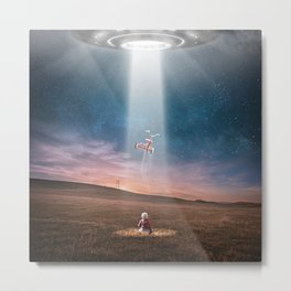 The Alien's Gift Metal Print