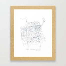 Made In Maps - San Francisco Framed Art Print