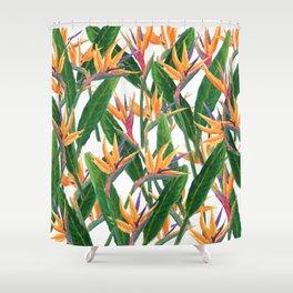 bird of paradise pattern Shower Curtain