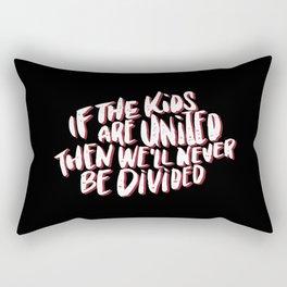 Kids United - Black Rectangular Pillow