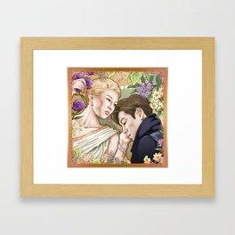 Nouveau Flower Boys Framed Art Print